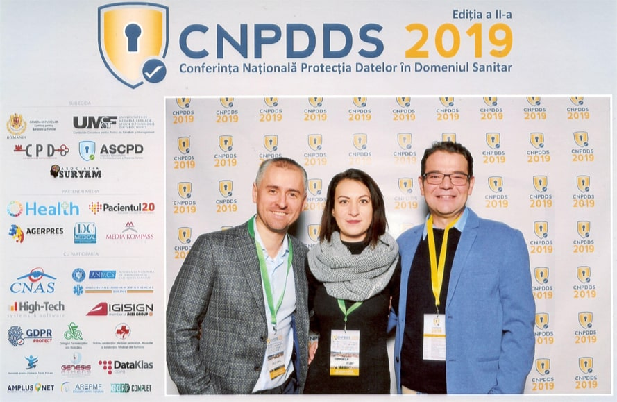 Echipa GDPRcomplet la Conferinta Nationala pentru Protectia Datelor in Domeniul Sanitar 2019