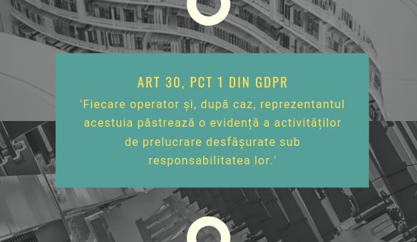 Articolul 30 GDPR, punctul 1