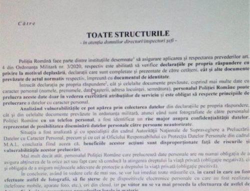 Poliția română, GDPR-ul și protejarea vieții private